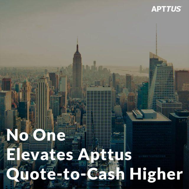 No One Elevates Apttus Quote-to-Cash Higher